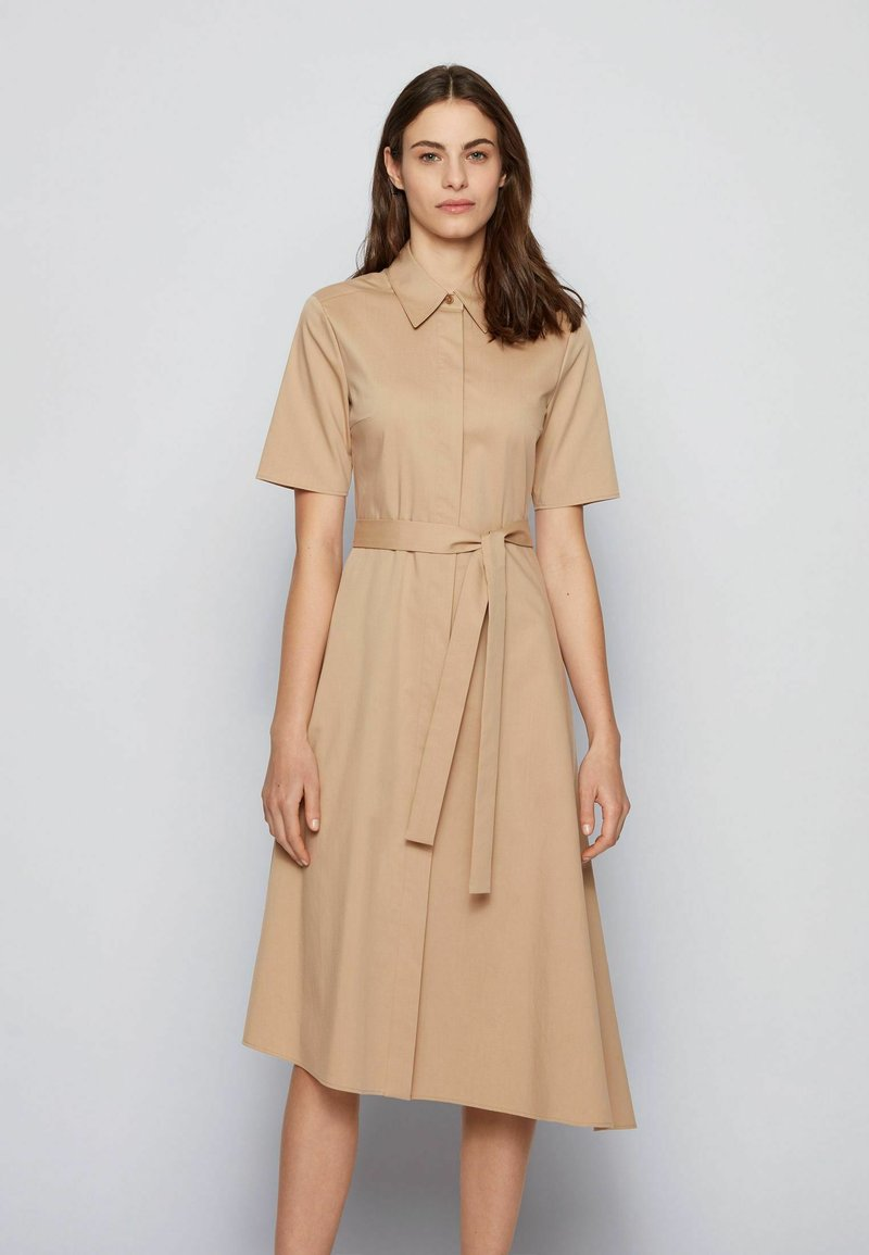 BOSS - DARANDA - Shirt dress - beige