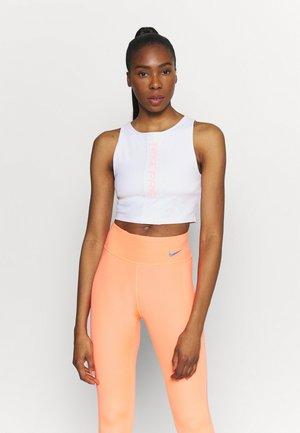 TANK FEMME  - Sports shirt - white/bright mango/grey fog