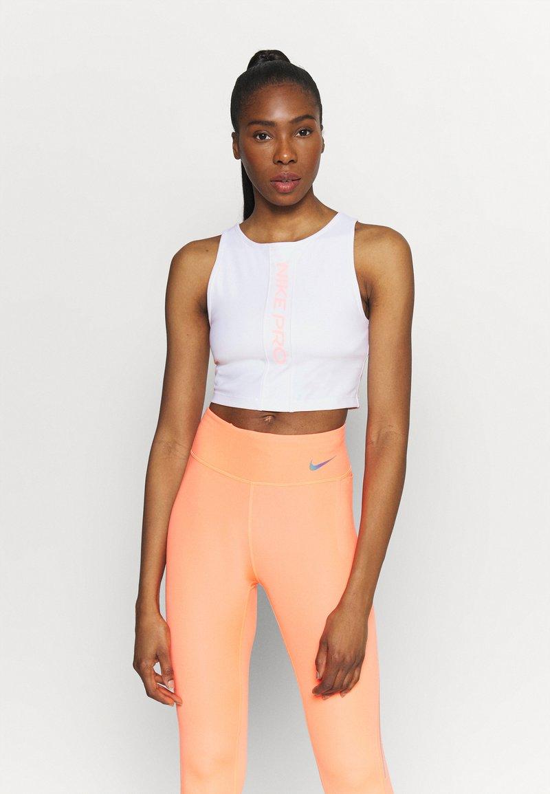 Nike Performance - TANK FEMME  - Funktionsshirt - white/bright mango/grey fog