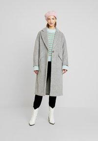 Topshop - EFFIE BRUSHED COAT - Manteau classique - grey - 1