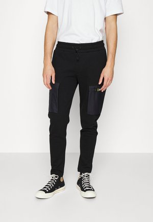 JOGGER PANTS WITH FRENCH POCKETS - Tracksuit bottoms - black