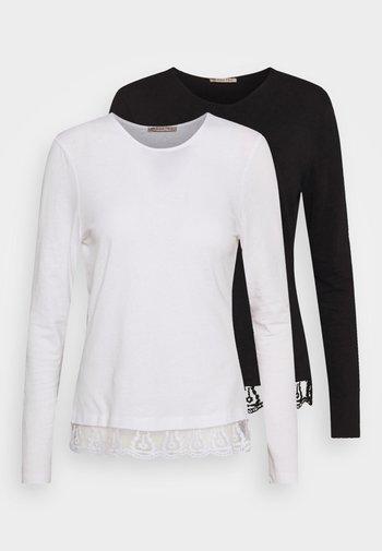 2 PACK - Maglietta a manica lunga - black/white