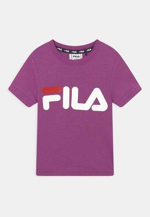 LEA LOGO TEE UNISEX - Print T-shirt - purple cactus flower