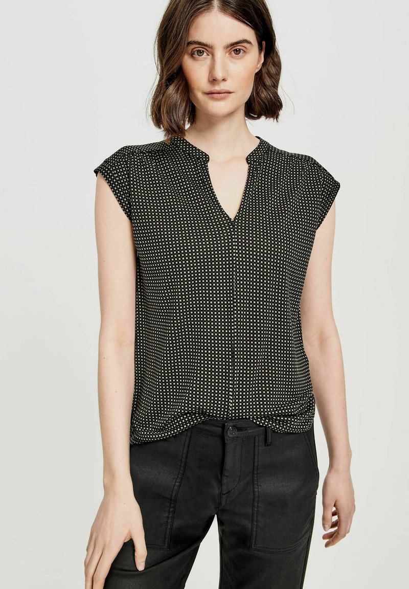 Opus - SANDI CHECKED - Blouse - taupe
