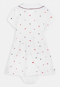 Tommy Hilfiger - BABY FLAG POLO DRESS - Jersey dress - white - 1