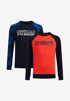 2 PACK - Long sleeved top - orange/blue
