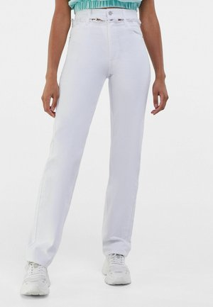 MIT CUT-OUTS  - Jeans a sigaretta - white