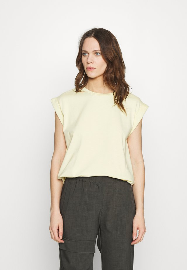 PORTER - T-shirt basique - soft lemon