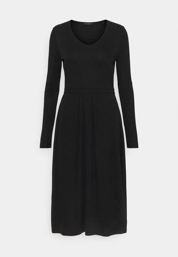 DRESS LONG SLEEVES - Jersey dress - black