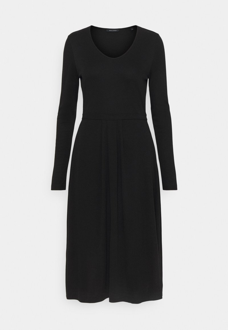 Marc O'Polo - DRESS LONG SLEEVES - Jersey dress - black