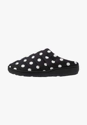 SUBU SLIP ON - Klapki - black/white