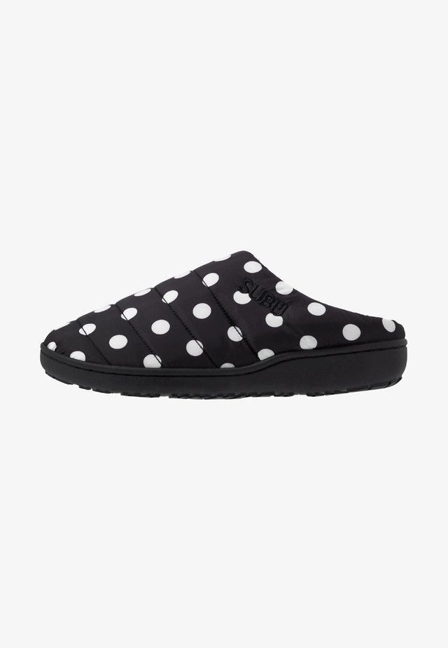 SUBU SLIP ON - Sandaler - black/white