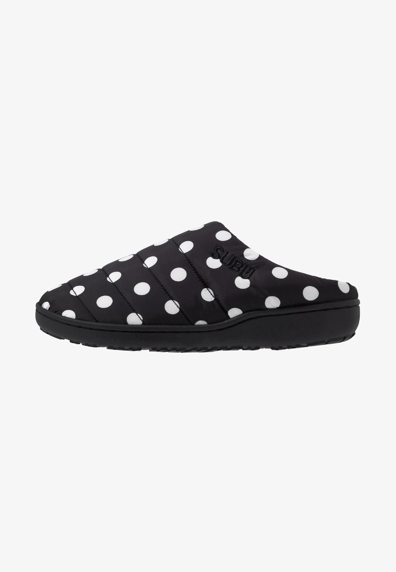 SUBU - SUBU SLIP ON - Klapki - black/white