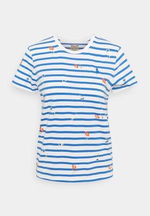 T-shirt imprimé - blue/white