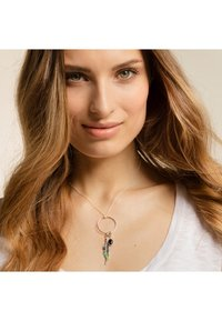 THOMAS SABO - ETHNO FEDER - Pendant - silver-coloured,red,turquoise,green,pink - 0