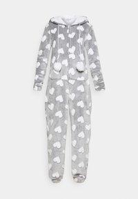 Loungeable - HEART LUXURY HOODED ONESIE - Pyjama - grey - 4
