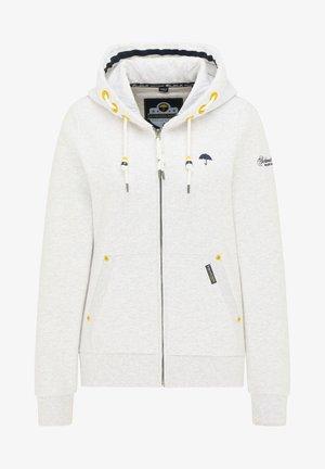 Zip-up sweatshirt - weiss melange
