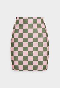 NEW girl ORDER - CHECKERBOARD MINI SKIRT - Mini skirt - pink - 0