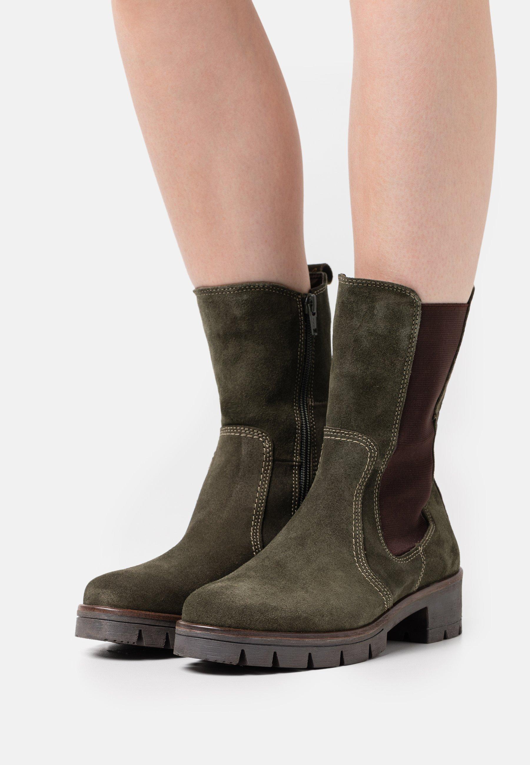 Women Platform boots - khaki