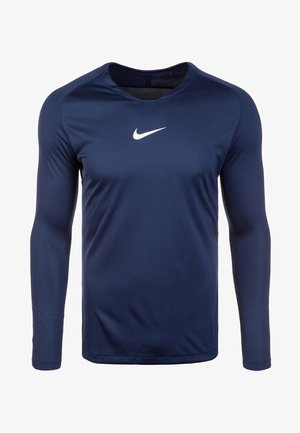DRY PARK FIRST - Long sleeved top - midnight navy/white