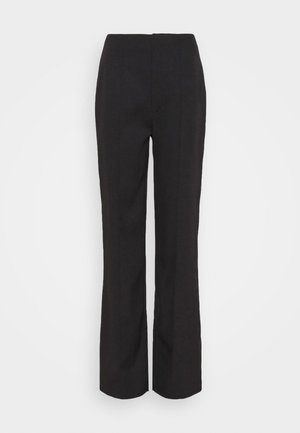 SEAM DETAIL STRAIGHT LEG TROUSERS - Trousers - black