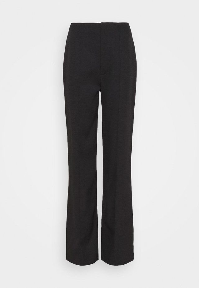 SEAM DETAIL STRAIGHT LEG TROUSERS - Tygbyxor - black