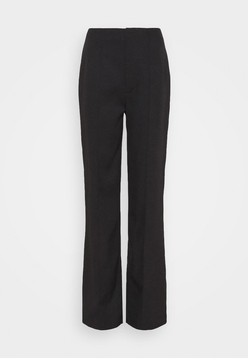 Missguided - SEAM DETAIL STRAIGHT LEG TROUSERS - Trousers - black
