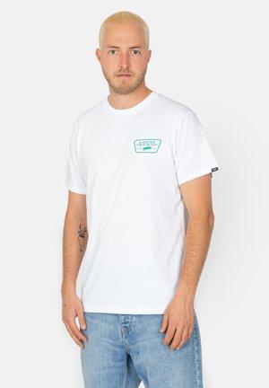 Print T-shirt - white / porcelain green