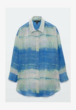 Button-down blouse - blue/green
