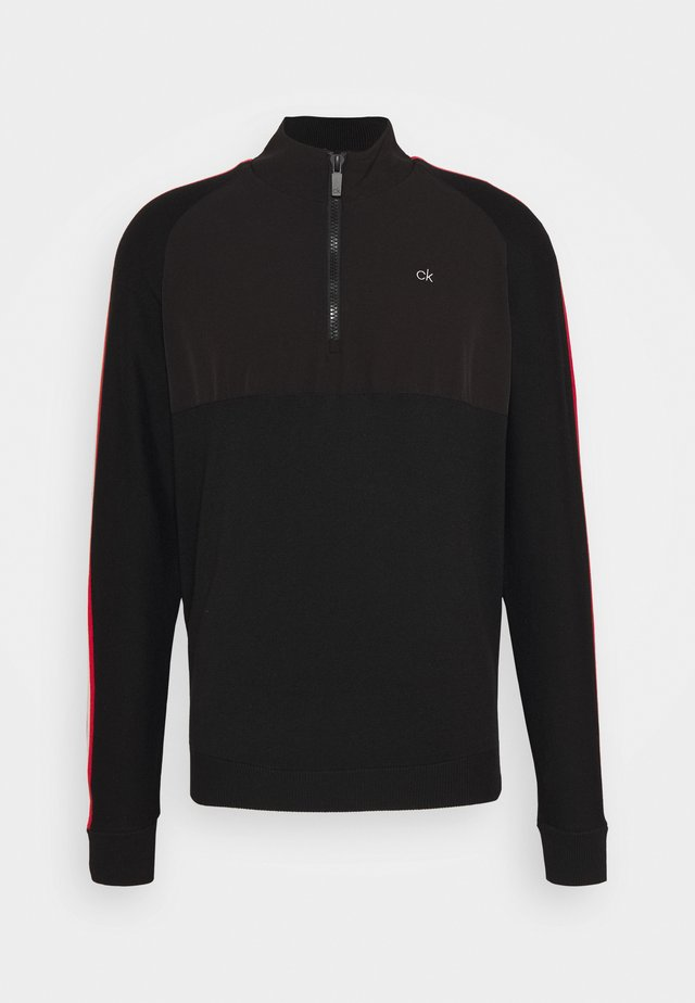 GLACIER HALF ZIP - Stickad tröja - black
