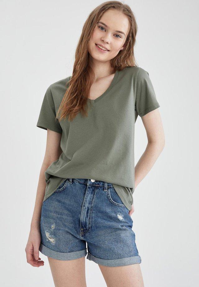 2 PACK - T-shirt print - olive