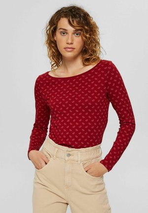 Long sleeved top - dark red