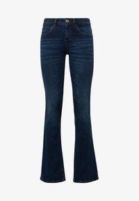 TOM TAILOR - JEANSHOSEN ALEXA - Bootcut jeans - dark stone blue denim - 0