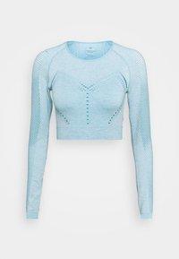 LONG SLEEVE SEAMLESS  - Long sleeved top - blue