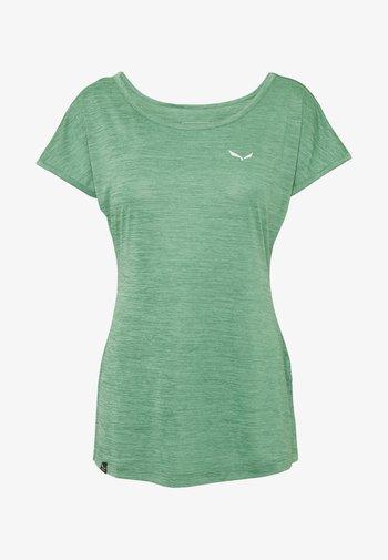 PUEZ DRY TEE - Basic T-shirt - feldspar green melange
