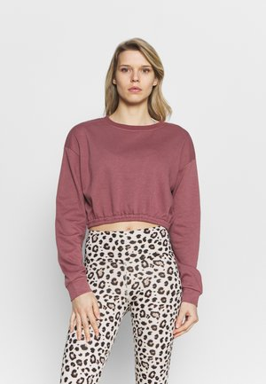 OVERSIZED CROP - Sweatshirt - rose brown