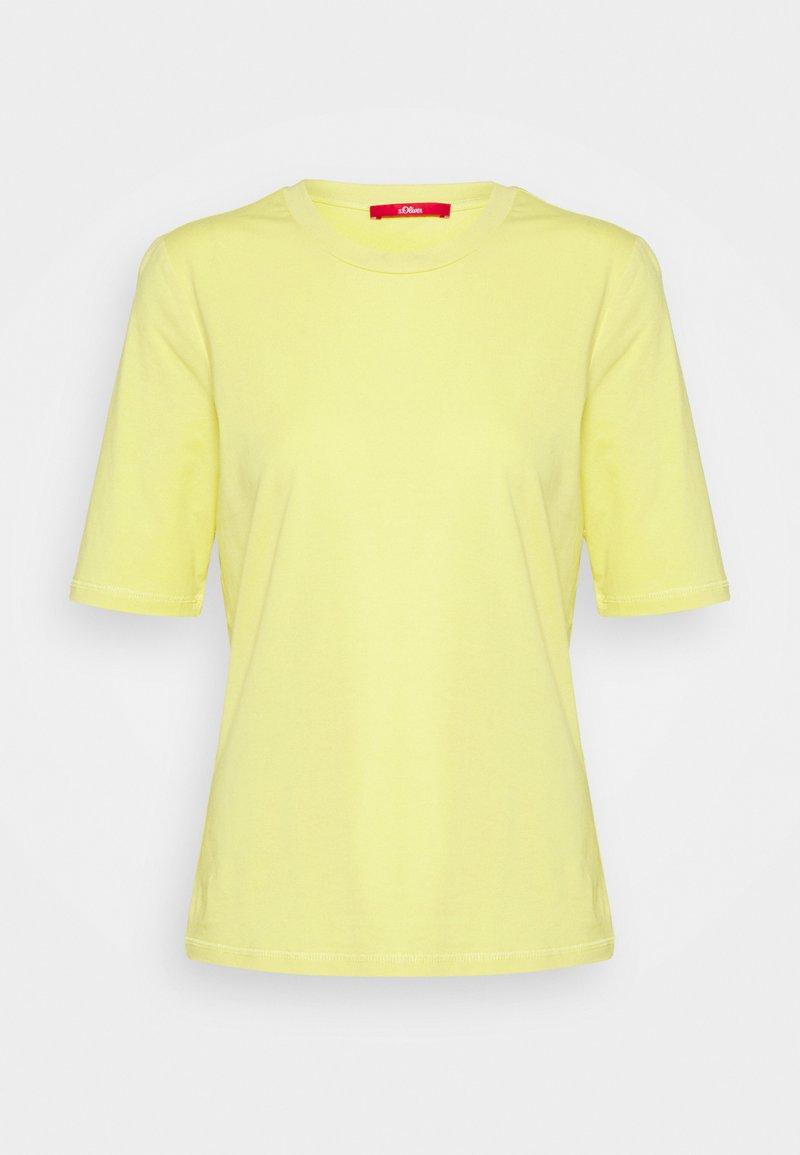 s.Oliver - KURZARM - Basic T-shirt - lime yellow