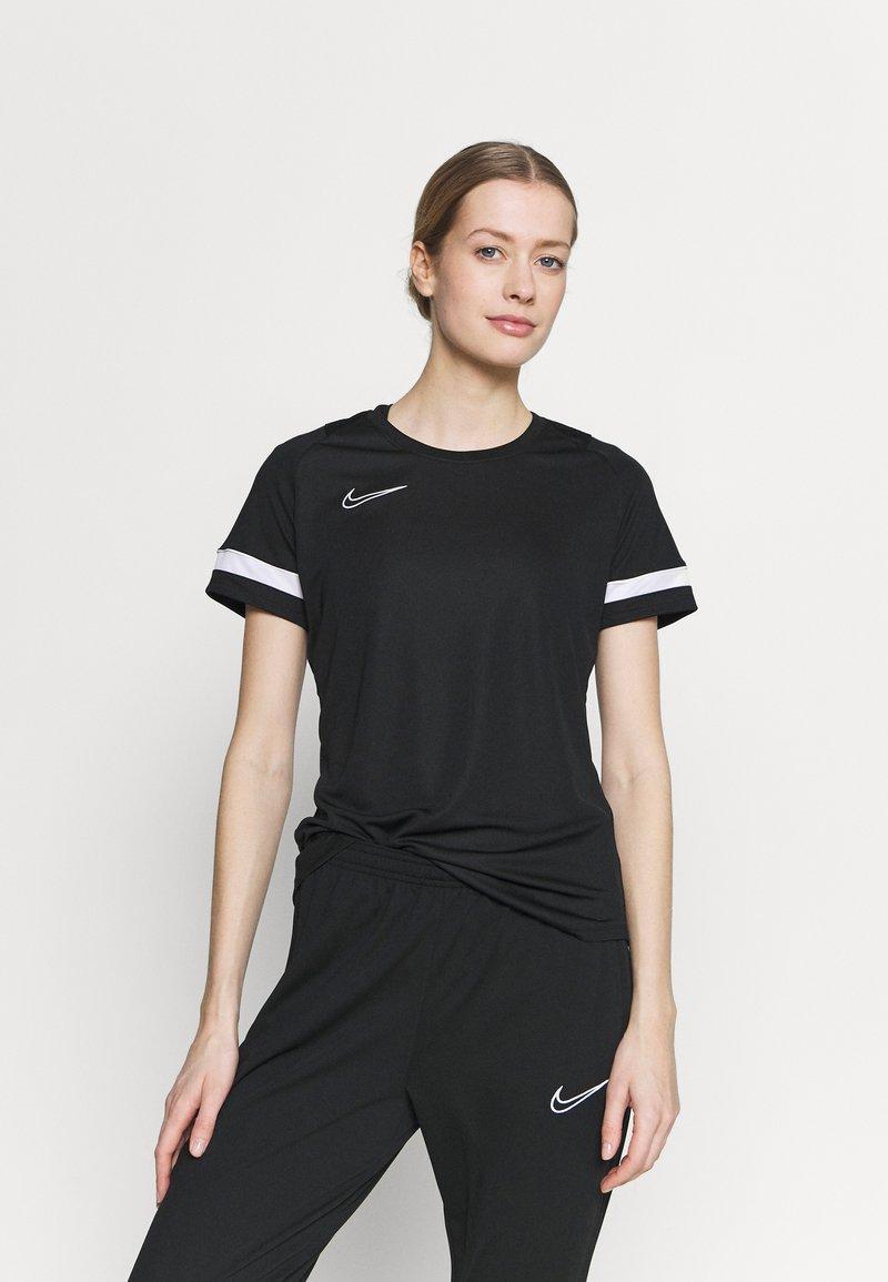 Nike Performance - T-shirts med print - black/white