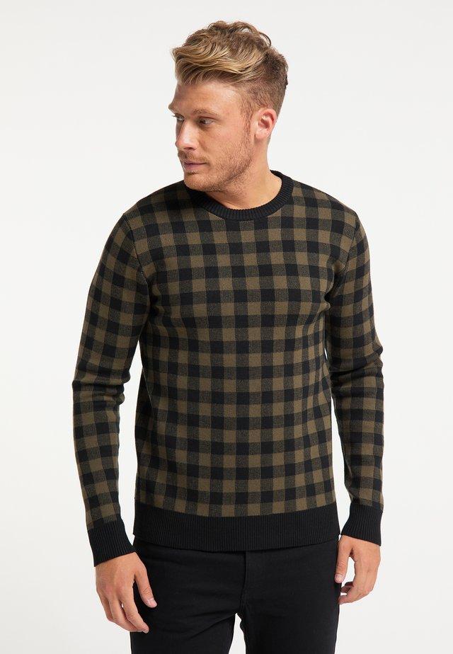 Pullover - militär oliv schwarz