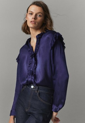 Button-down blouse - dark purple