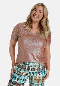 Samoon - Basic T-shirt - mocca brown - 0