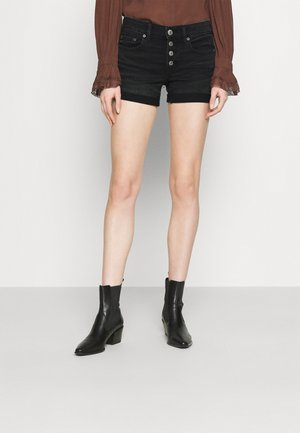 MIDI - Denim shorts - black