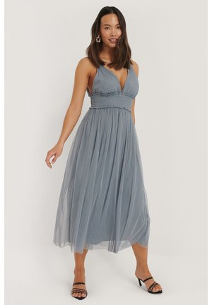 V NECK MIDI DRESS - Iltapuku - grey