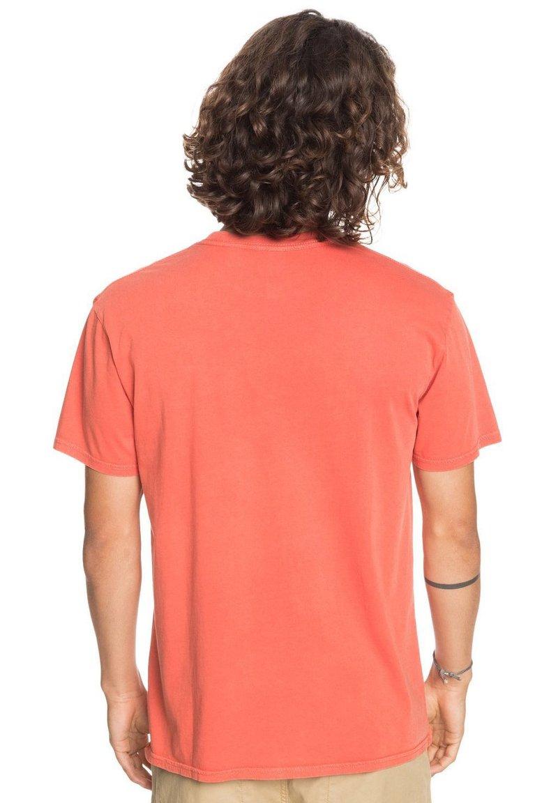 Quiksilver ACID SUN - T-Shirt basic - chili/burned-orange denim UVquiq