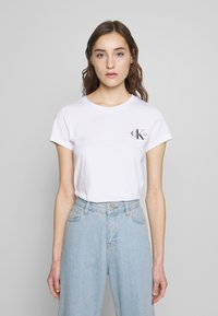 Calvin Klein Jeans - SLIM 2 PACK - Print T-shirt - black/bright white - 1
