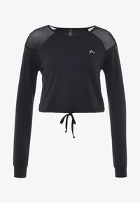 ONLY Play - ONPJAVA CROPPED TEE - Long sleeved top - black - 3