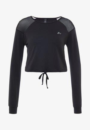 ONPJAVA CROPPED TEE - Long sleeved top - black