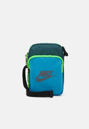 HERITAGE UNISEX - Across body bag - laser blue/dark teal green/black