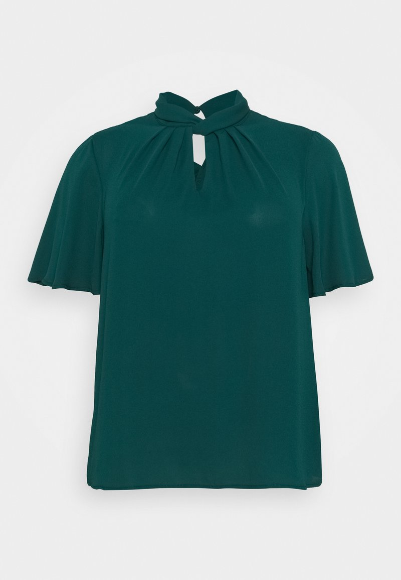 New Look Curves - TRACEY TWIST FRONT SHELL - Blouse - dark green
