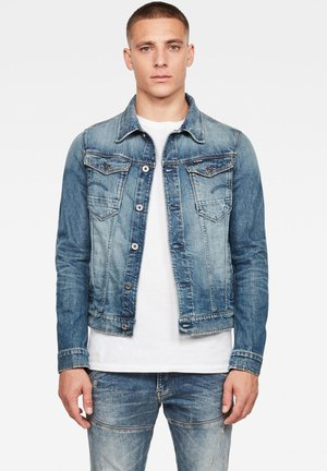 ARC 3D SLIM - Denim jacket - old faded royal blue